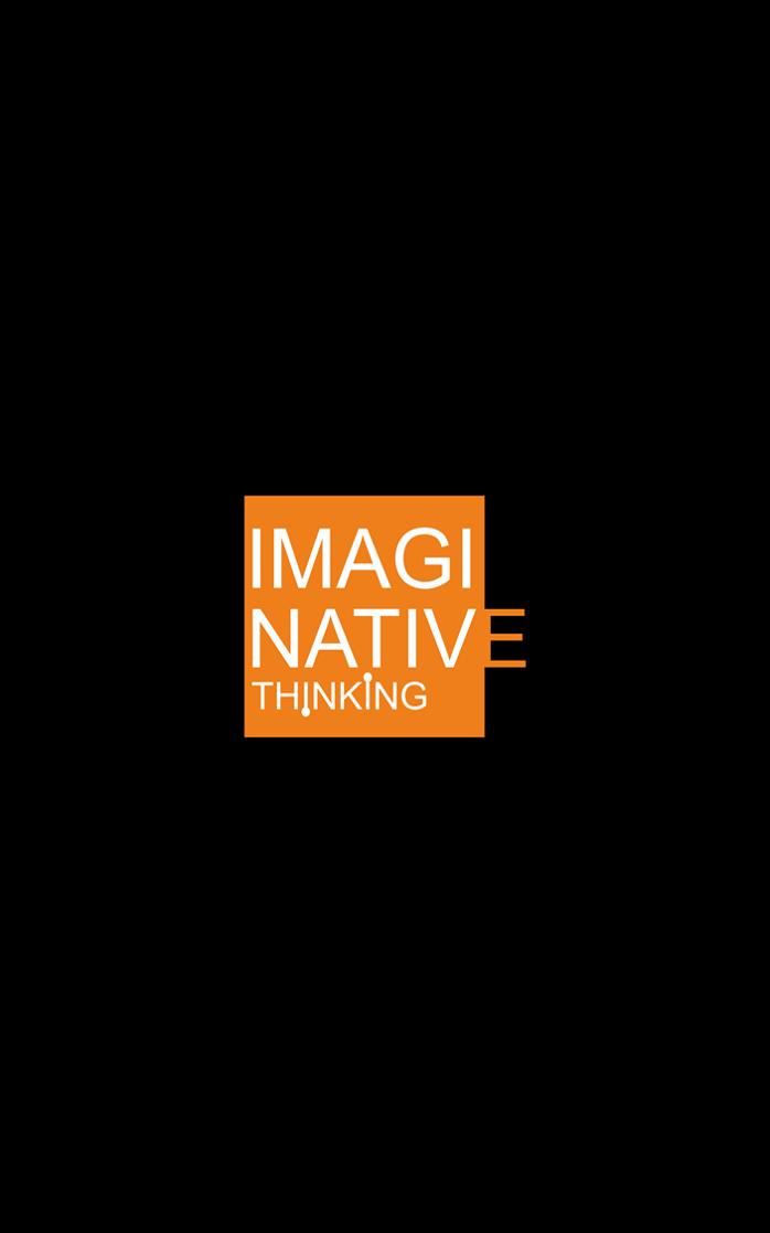 Imaginative Thinking logo (Black BG)